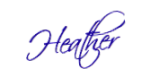 Heather Cate's signature -- Heather Cate, Spiritual Coach for the Creative Soul