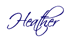 Heather Cate's signature, Spiritual Coach for the Creative Soul, Holistic Healer