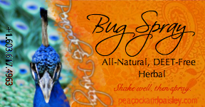 All Natural Bug Spray by Peacock & Paisley