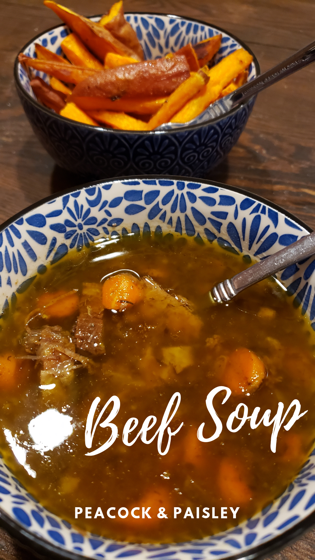 grain-free beef soup recipe from Peacock and Paisley