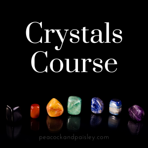 Crystals Course with Heather Cate Spiritual Coach for the Creative Soul peacockandpaisley.com healing