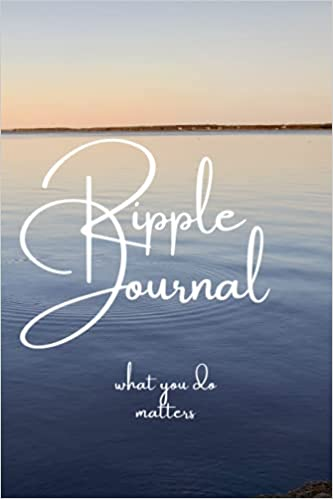 Ripple Journal. Give yourself a pat on the back; keep track of the good you do. Spiritual Coach Heather Cate Peacock and Paisley